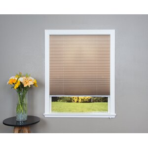 Corded Light Filtering Fabric Pleated Shade