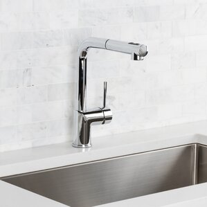 Hahn Deck Mounted Single Handle Pull Out Kitchen Faucet