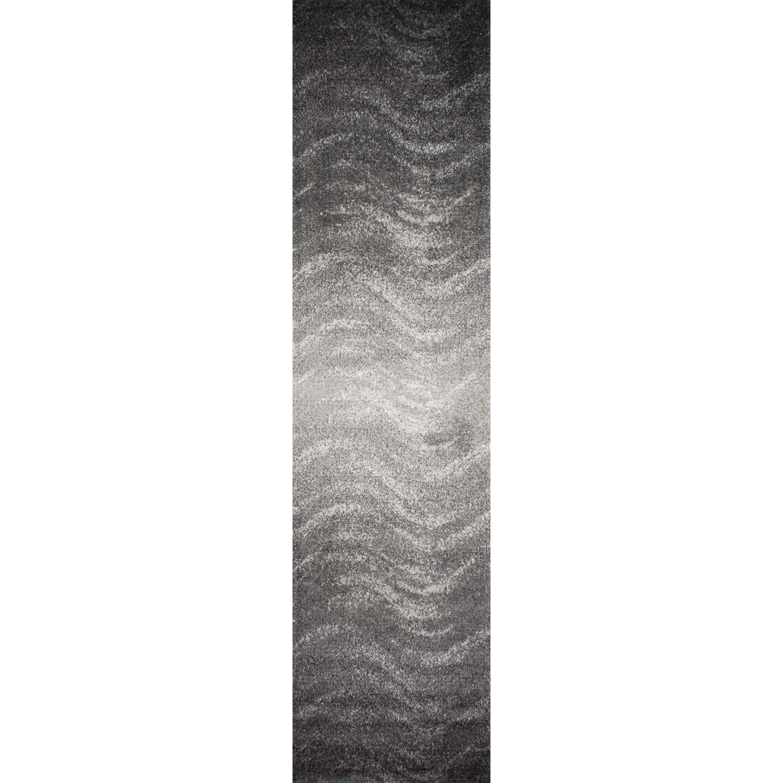 Surya Brilliance 26 x 8 Runner Area Rug Gray