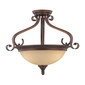 Auburn 3-Light Semi-Flush Mount