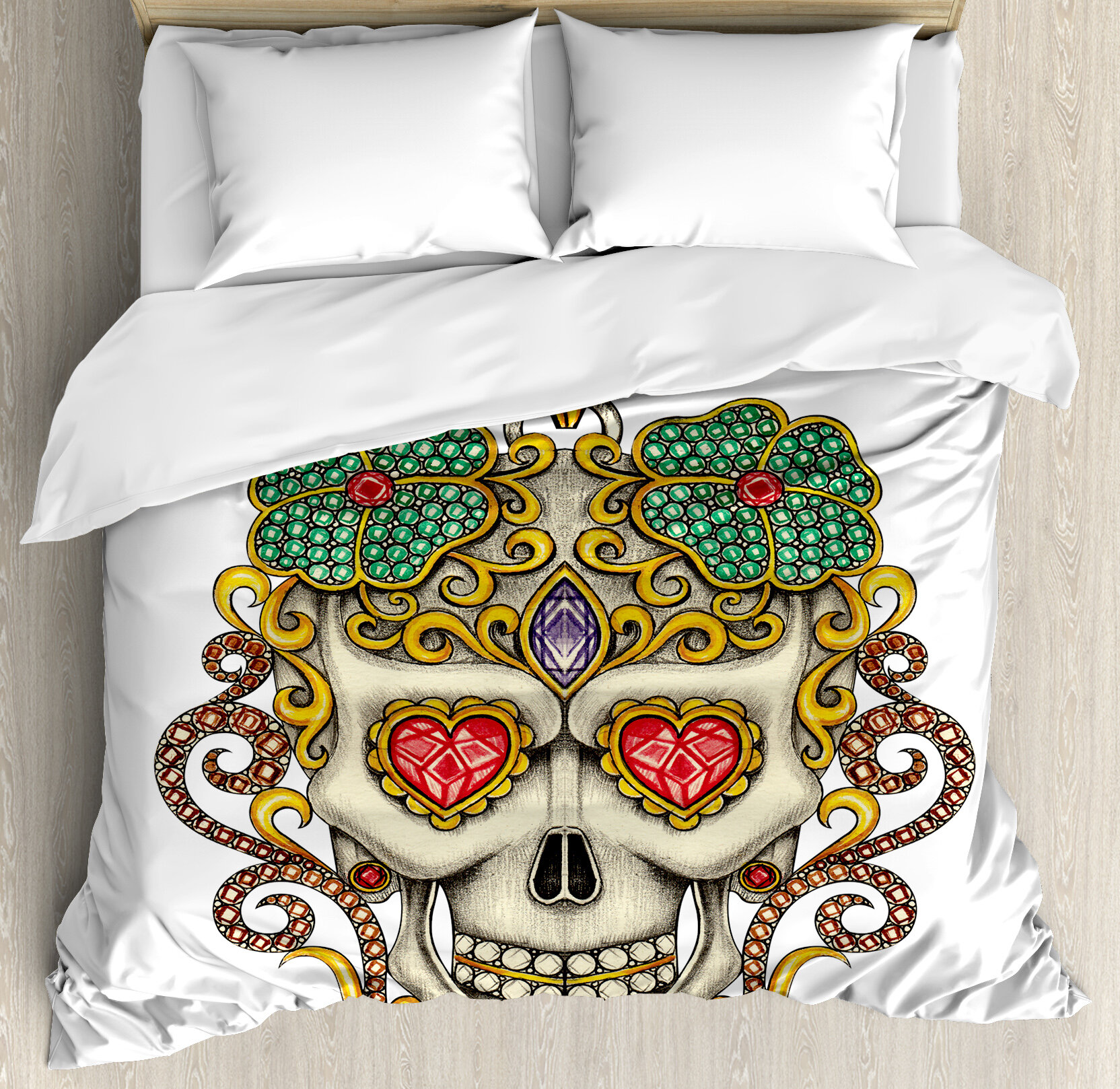 Ambesonne Day Of The Dead Duvet Cover Set Wayfair