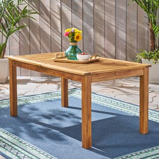 Imani Outdoor Extendable Wooden Dining Table
