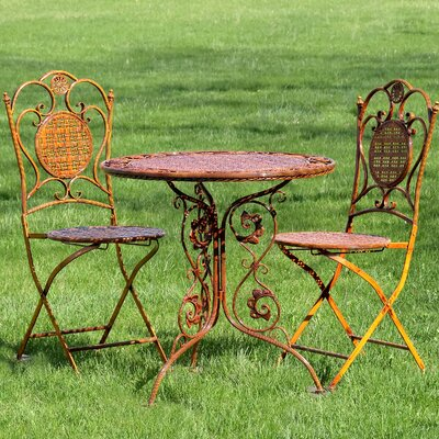 Rueben 3 Piece Bistro Set by World Menagerie Comparison