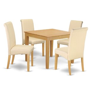 Araceli Square Table 5 Piece Solid Wood Breakfast Nook Dining Set Winston Porter