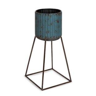 Seaham Metal Pot Planter By Williston Forge