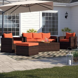 Arlington 5 Piece Sofa Seating Group with Cushions by Sol 72 Outdoor