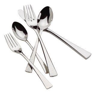 Biscayne 65-Piece 18/10 Stainless Steel Flatware Set, Service for 12
