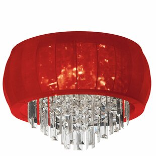 House of Hampton Reginald 8-Light Crystal Flush Mount