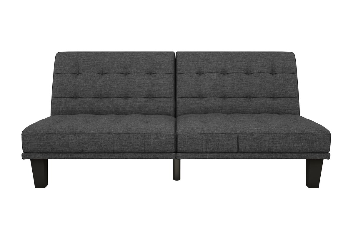 Attractive Haysi Futon Lounger Convertible Sofa