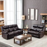 Darnita 2 Piece Faux Leather Reclining Living Room Set by Latitude Run®