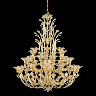 Rivendell 36-Light Shaded Chandelier by Schonbek
