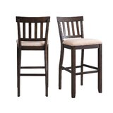 Mies Solid Wood 30'' Stool (Set of 2) by Gracie Oaks