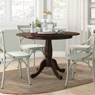 Overbay Extendable Solid Wood Dining Table Lark Manor