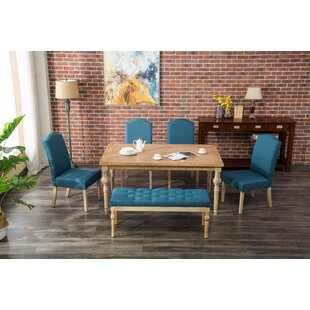 Tessio 6 Piece Dining Set Bungalow Rose