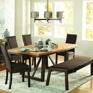 Delwood Extendable Dining Table Loon Peak