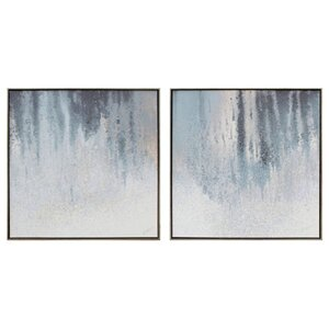 2 Piece Graphic Art on Wrapped Canvas Set