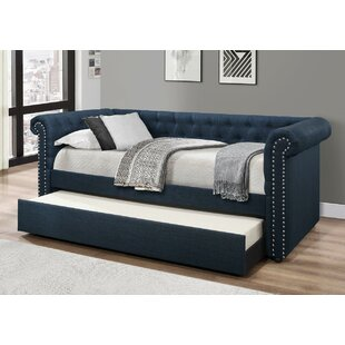 Alcott Hill Zac Upholstered Daybed with Trundle