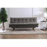 Rosio Twin Tufted Back Convertible Sofa by Latitude Run