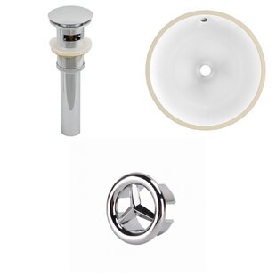 Read Reviews Ceramic Circular Undermount Bathroom Sink with Overflow By American Imaginations
