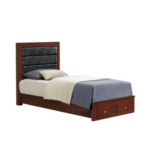 Carbon Upholstered Storage Platform Bed