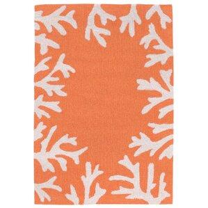 Claycomb Hand Tufted Orange Indoor/Outdoor Area Rug