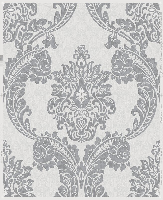 Willa Arlo Interiors Bower 33 x 20 Damask Wallpaper Roll
