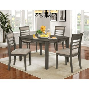 Opalstone 5 Piece Solid Wood Dining Set by Gracie Oaks Amazing