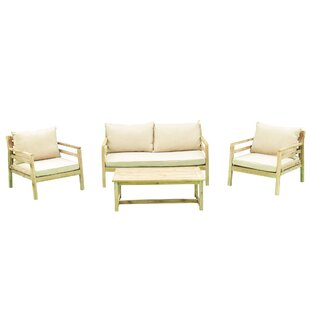 Ekaterina Outdoor 4 Piece Sofa Seating Group with Cushions