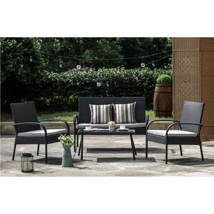 Sachem 4 Piece Sofa Seating Group with Cushions