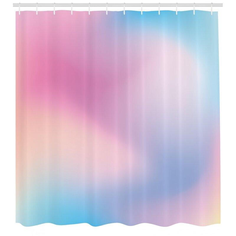 Pastel Shower Curtain Set Hooks Wayfair