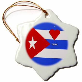 The Holiday Aisle Old Car In Cuba Snowflake Holiday Shaped Ornament Wayfair