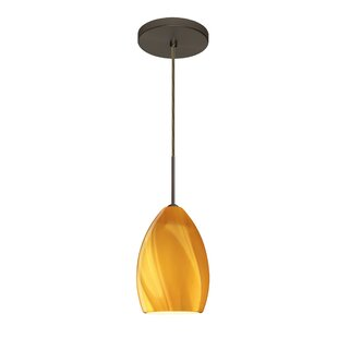 Euka 1-Light Cone Pendant by Besa Lighting