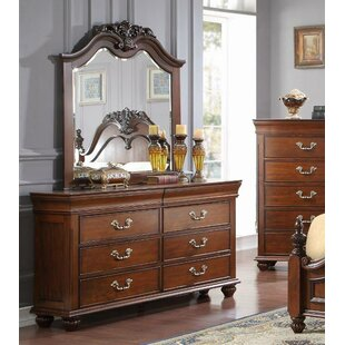 Cheatham 6 Drawer Double Dresser with Mirror by Astoria Grand