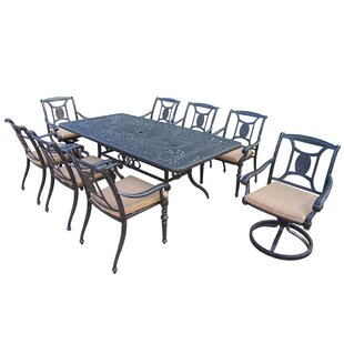 Oakland Living Victoria 9 Piece Dining Set with Cushion