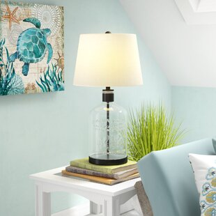 Coastal table lamps youll love wayfair woodburn metal and glass 265 table lamp aloadofball Image collections