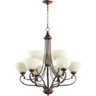 Quorum Lariat 9-Light Shaded Chandelier