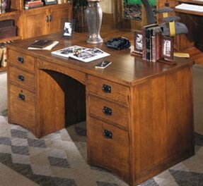 Benno Double Pedestal Executive Desk by Millwood Pines