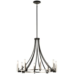 Canis 8-Light Wagon Wheel Chandelier