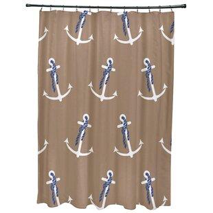 Hancock Anchor Whimsy Geometric Print Single Shower Curtain