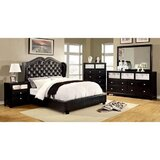 Monroe Queen Platform 5 Piece Bedroom Set by Williams Import Co.
