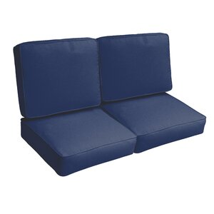 Indoor/Outdoor Loveseat Cushion Set