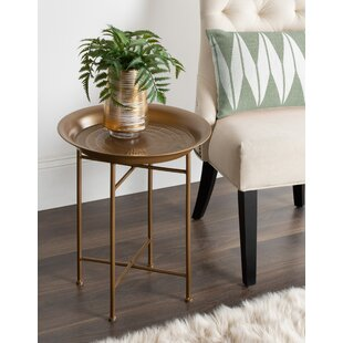 Pasquale Hammered Metal End Table