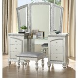Rahn Vanity with Stool and Mirror by House of Hampton®