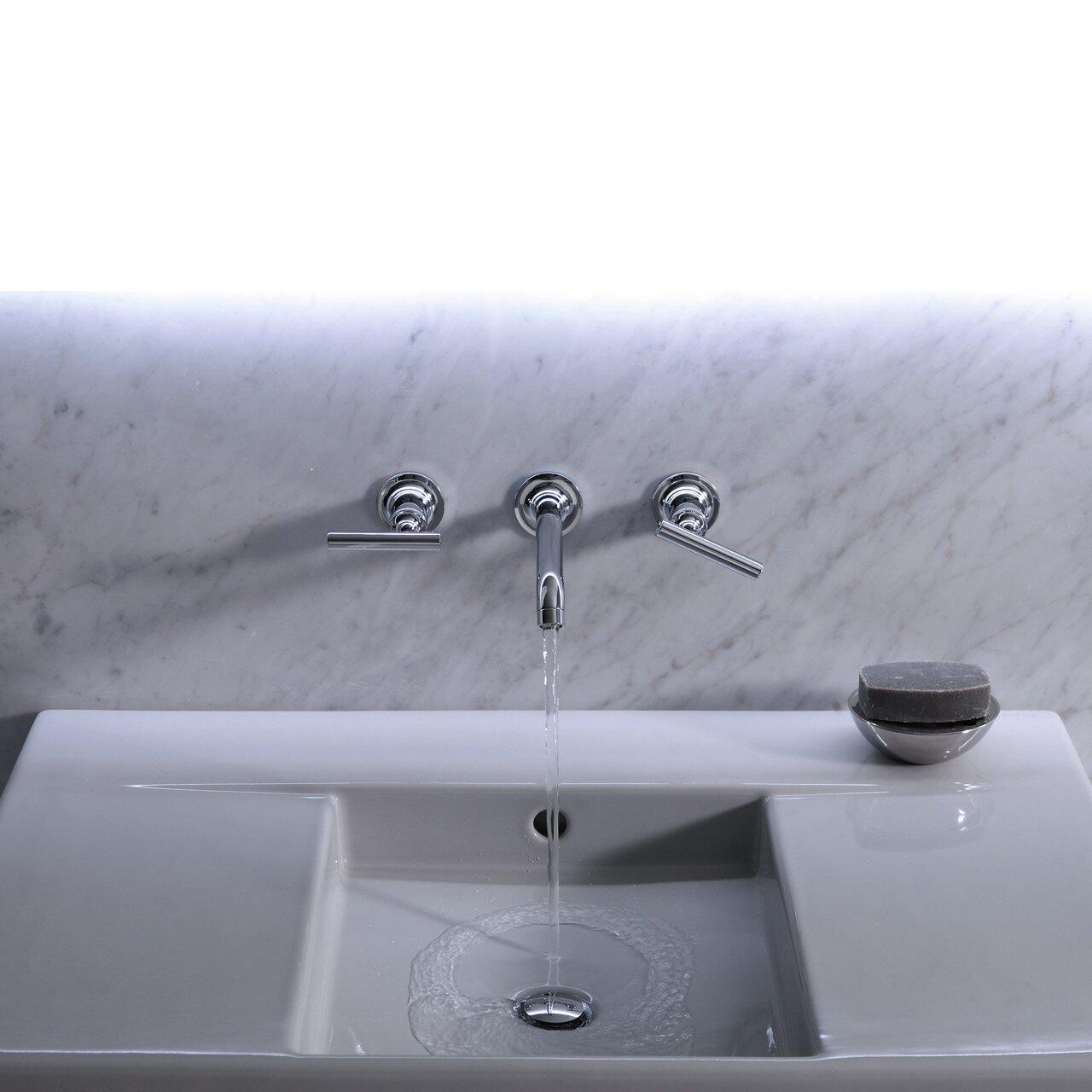 K T14415 4 CP Kohler Purist® Wall mounted Bathroom Faucet