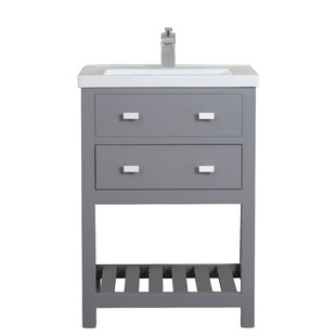 Modern Inch Gray Bathroom Vanities AllModern - 24 inch bathroom vanity gray