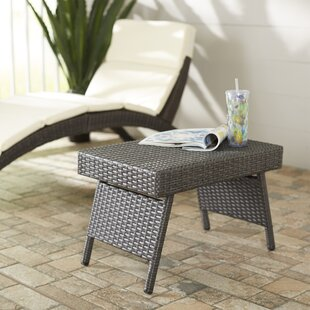 Shop For Ellington Circle Outdoor Foldable Wicker Side Table By Wrought Studio