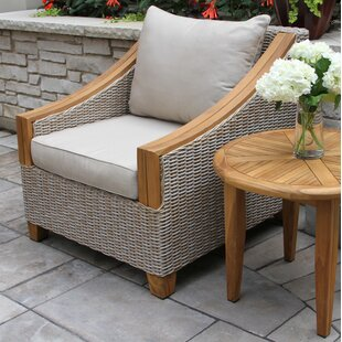 Birch Lane™ Asta Wicker & Teak Arm Chair