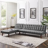 Seawell 100 Faux Leather Reversible Sofa & Chaise by Corrigan Studio®