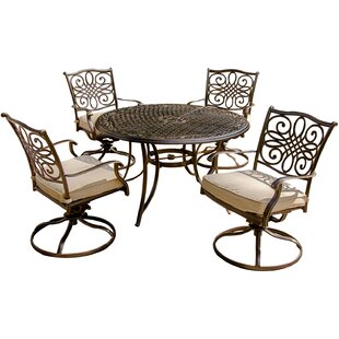 Carleton 5 Piece Metal Dining Set