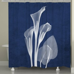 Fedler X-Ray Calla Lilies Single Shower Curtain